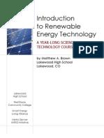 Intro to Renewable Energy