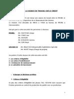 Compte Rendu de La Séance de Travail Avec ADVANS Sur Le Credit Usiniers Phase 3 Juin 2019