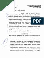 Resolución del Poder Judicial sobre Joaquín Dipas