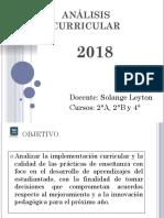 Análisis Curricular 2018