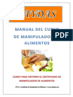 Daydas Manual Manipulador de Alimentos New