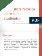 A estrutura retórica do resumo acadêmico