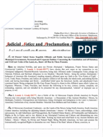 Judicial Notice and Proclamation