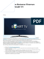 Samsung Como Restaurar Firmware Original en SMART