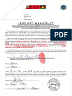 Affidavit of Contract