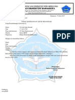 Surat Pernyataan Aktif Di Organisasi