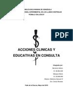 Acciones Clinicas y Educativas