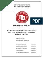 [International Marketing] Group 4 Executive Summary
