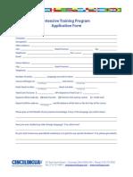 Cincilingua ITP Application