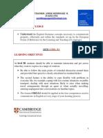 Final Agenda Intermediate Levels