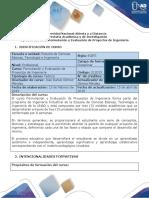 1-Syllabus Del Curso Formulación y Evaluación de Proyectos de Ingeniería