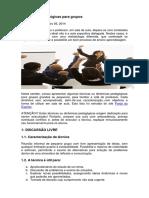 6 Dinâmicas Pedagógicas Para Grupos
