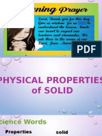 1. Identifying Properties of Solid