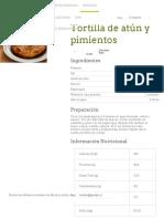 Tortilla de Zapallo Italiano y Pimentón