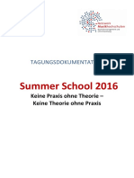 Summer School 2016 Tagungsdokumentation