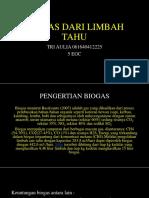 biogas dari limbah tahu