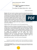 Populações e Procedências na Região das Missões