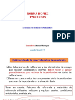 ISO 17025 - 5.4.6 (Incertidumbre)
