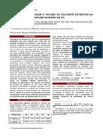 Estudo da polaridade e volume do solvente extrator na extração de cafeína em Guaraná em pó