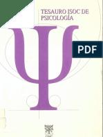 Tesauro Psicología