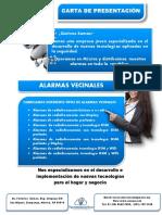 Carta de Presentación Alarmas vecinales en mexico