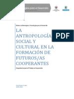 La Antropología Social y Cultural en la Formación de Futuros/as Cooperantes