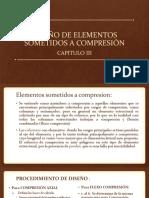 Cap. III Diseño de Elementos Sometidos a Compresión