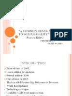 A Common Sense Approach to Web Usability