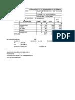 tabla de demanda de diseño