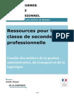 La Famille Des Metiers de La Gestion Administrative, Transport Et Logistique 1081572