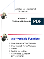 Chapter 4 Multivariable Functions