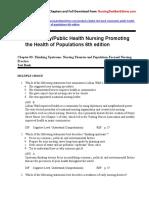 Test Bank for Community Public Health Nursing 6th Edition