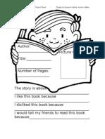 3.1 Model Book Report Sheet