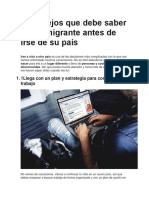 7 Consejos Que Debe Saber Todo Emigrante Antes de Irse de Su País