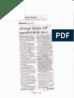 The Manila Times, June 19, 2019, Arroyo keeps of speakership race.pdf