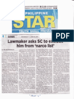 The Philippine Star, June 19, 2019, Lawmaker asks SC to exclude him from narco list.pdf