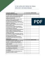 Formato Lista Chequeo Inspeccion Seguridad