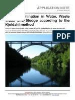 VELP Application Note Water-Sludge E-K-001-2015 1
