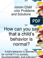 Common Child Behavior Problems and Solutions
