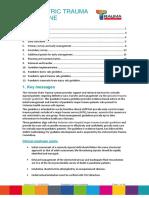 Paediatric Trauma Guideline