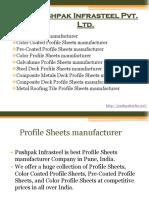 Profile Sheets