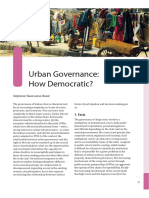 Urban Governance How Democratic