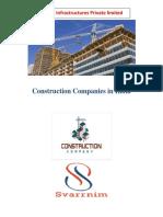 Constuction Companies In India- Svarrnim Infrastructure