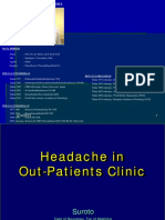 Headhace in Out Patien Clinic