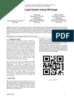 Secure Login System Using QR-Image