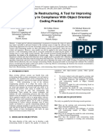 A Model for Code Restructuring, A Tool for Improving Systems Quality In Compliance With Object Oriented Coding Practice