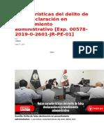 Características del delito de falsa declaración en procedimiento administrativo.docx
