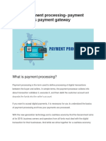 What is Payment Processing