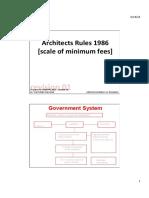 minimum fees architect