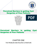 Perceived Barriers in Getting Cyst Surgeries of Poor Patients